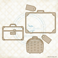 Blue Fern Studios - Chipboard - Vintage Luggage