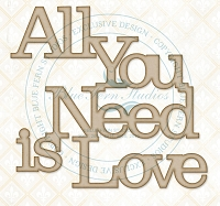 Blue Fern Studios - Chipboard - All You Need Is Love
