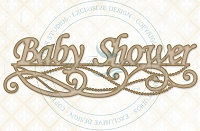 Blue Fern Studios - Chipboard - Baby Shower