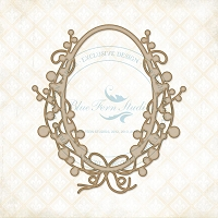Blue Fern Studios - Chipboard - Berry Frame