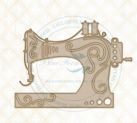 Blue Fern Studios - Chipboard - Sewing Machine