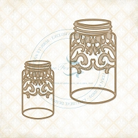Blue Fern Studios - Chipboard - Flourished Jars
