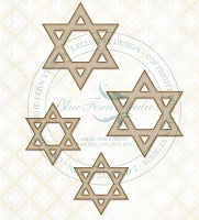 Blue Fern Studios - Chipboard - Star of David Set