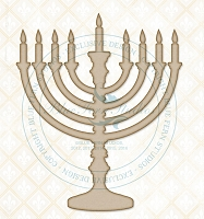 Blue Fern Studios - Chipboard - Hanukiah (Menorah)