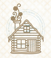 Blue Fern Studios - Chipboard - Winter Cabin