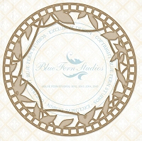 Blue Fern Studios - Chipboard - Draping Leaves