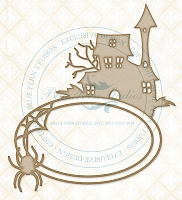Blue Fern Studios - Chipboard - Halloween Frame