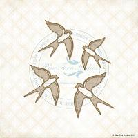 Blue Fern Studios - Chipboard - Birds in Flight