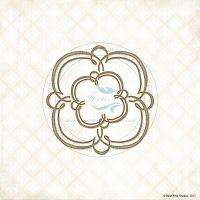 Blue Fern Studios - Chipboard - Double Swirls Small Frame