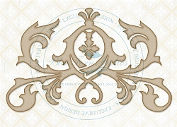 Blue Fern Studios - Chipboard - Elegant Flourish