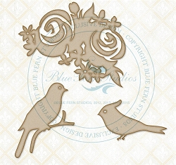 Blue Fern Studios - Chipboard - A Spring Day