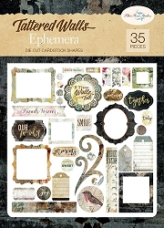 Blue Fern Studios - Tattered Walls Collection - Die Cut Ephemera