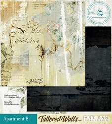 Blue Fern Studios - Tattered Walls Collection - 12