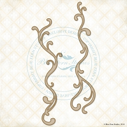 Blue Fern Studios - Chipboard - Trailing Scrolls