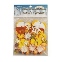 Blue Hills Studio - Irene's Garden - Potpourri Paper & Flower Embellishment Pack (30 pcs) - Yellows