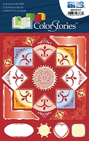 Blue Hills Studio - Color Stories - Red Cardstock Stickers
