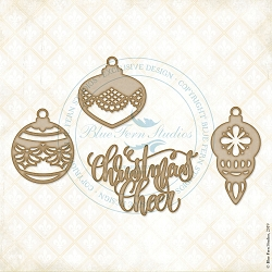 Blue Fern Studios - Christmas Baubles Chipboard