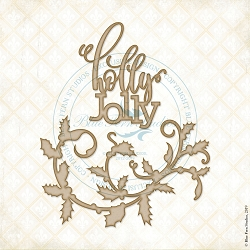 Blue Fern Studios - Holly Days Flourish Chipboard