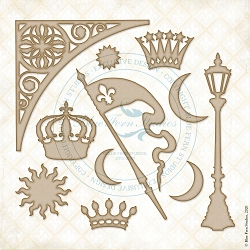 Blue Fern Studios - Crowning Glory Chipboard