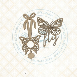 Blue Fern Studios - Butterfly Charms Chipboard