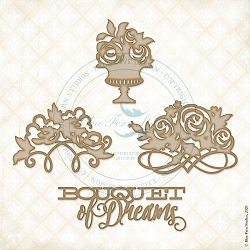 Blue Fern Studios - Bouquet of Dreams Chipboard