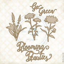 Blue Fern Studios - Blooming Beauties Chipboard