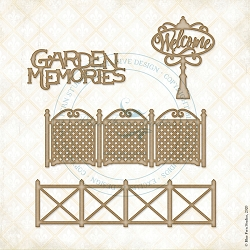 Blue Fern Studios - Garden Memories Chipboard