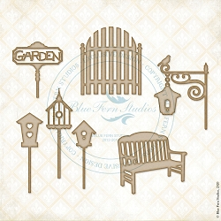 Blue Fern Studios - Sit a Spell Chipboard