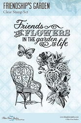 Blue Fern Studios - Friendship's Garden Clear Stamp