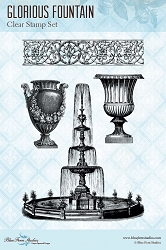 Blue Fern Studios - Glorious Fountain Clear Stamp