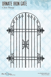 Blue Fern Studios - Ornate Iron Gate Clear Stamp