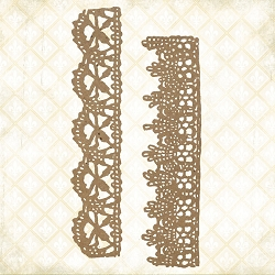 Blue Fern Studios - Chantilly Lace Borders Chipboard