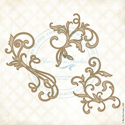 Blue Fern Studios - Swirly Whorls Chipboard