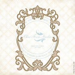 Blue Fern Studios - Regal Crest Chipboard