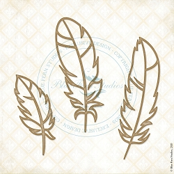 Blue Fern Studios - Feather Lite Chipboard