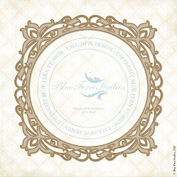 Blue Fern Studios - Frilly Frame Chipboard