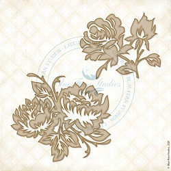 Blue Fern Studios - Bouquet Florets Chipboard