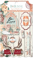 Bo Bunny - Bella Rosa Collection - Layered Chipboard