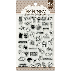Bo Bunny - Petal Lane Collection - Everyday Icons Clear Stamp