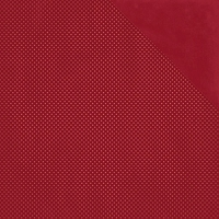 Bo Bunny - Double Dot Cardstock - Cranberry Dot