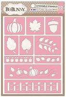 Bo Bunny - Stickable Stencils - Autumn Delight