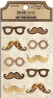 Bo-Bunny - Kraft Products - Kraft Wood Mustaches