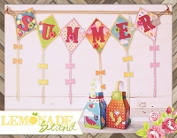 Bo Bunny - Lemonade Stand Collection - Summer Banner & Lanterns Kit