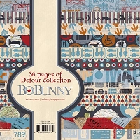 Bo Bunny - Detour Collection - 6X6 Paper Pad :)