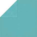 Bo-Bunny - Double Dot Cardstock - Aquamarine Dot