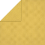 Bo-Bunny - Double Dot Cardstock - Honey Mustard Dot