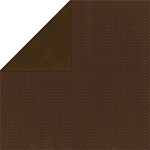 Bo-Bunny - Double Dot Cardstock - Coffee Dot
