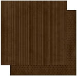 Bo-Bunny - Double Dot Cardstock - Coffee Stripe