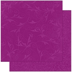 Bo-Bunny - Double Dot Cardstock - Grape Flourish