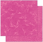 Bo-Bunny - Double Dot Cardstock - Pink Punch Fourish